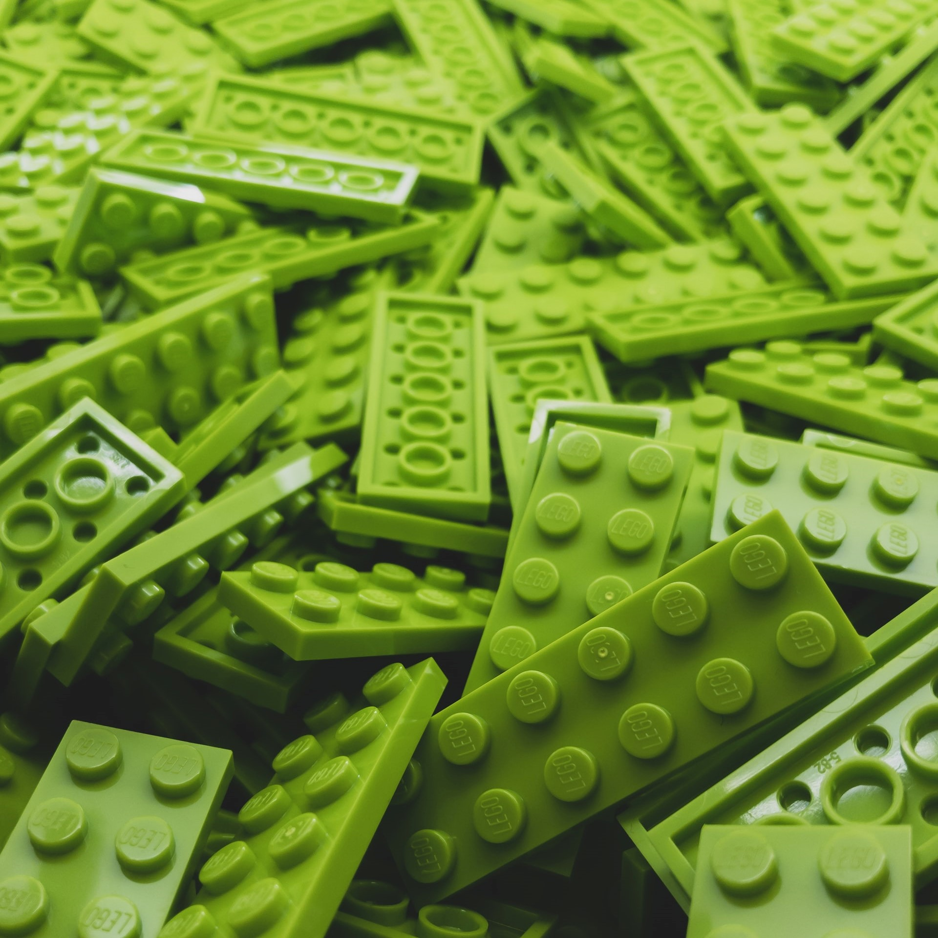 Green lego bricks